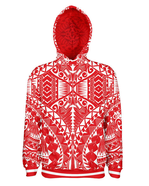 Samoa Red printed all over in HD on premium fabric. Handmade in California.