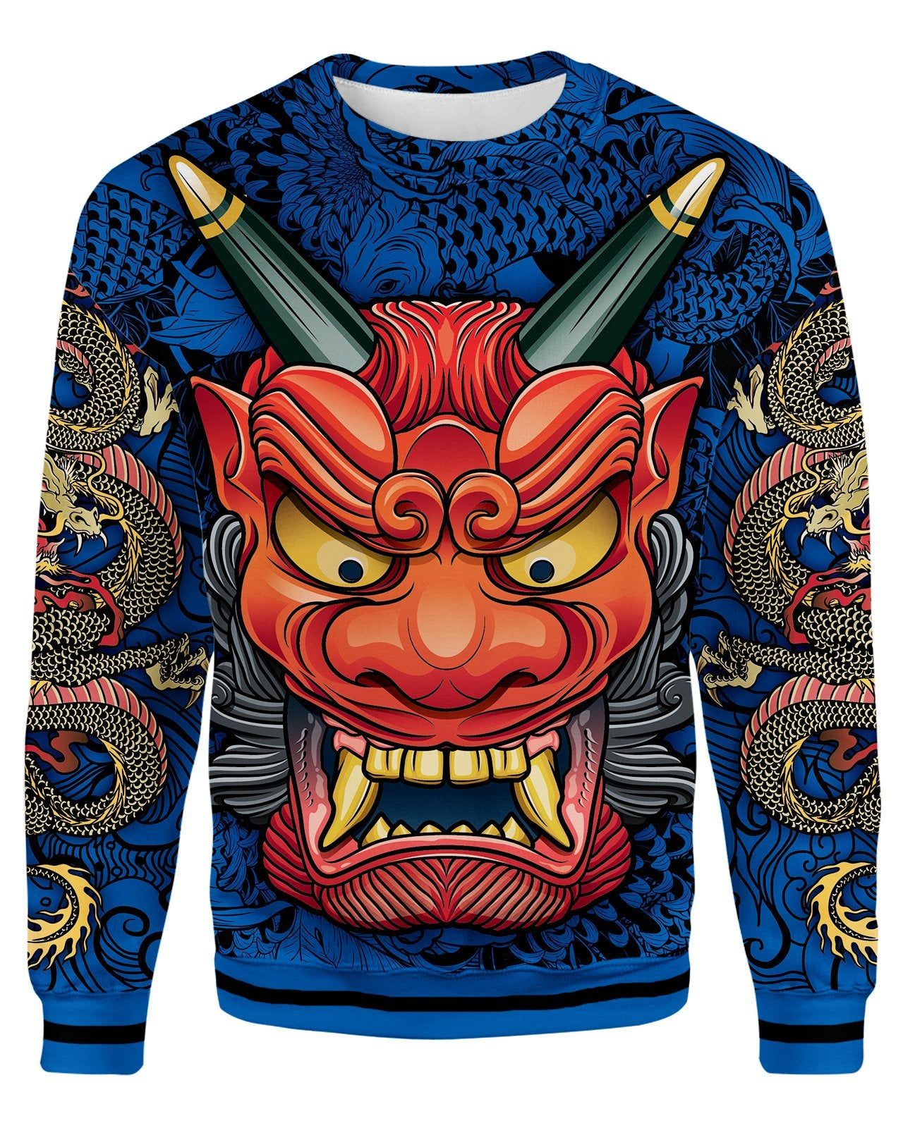 Oni Mask Blue Sweatshirt