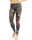 Oni Mask Gray Leggings