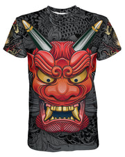 Oni Mask Gray T-shirt