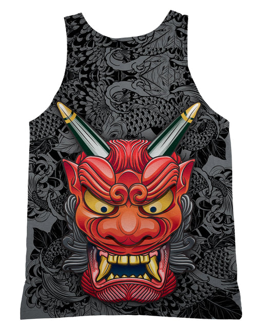 Oni Mask Gray Tank-Top