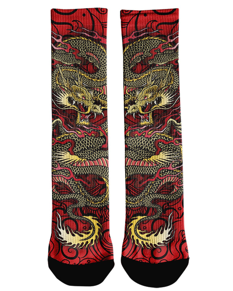 Oni Mask Red Crew Socks