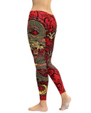 Oni Mask Red Leggings