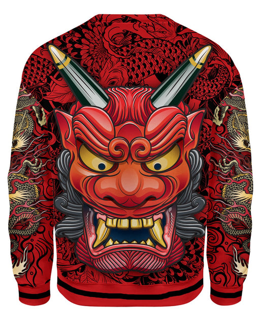Oni Mask Red Sweatshirt