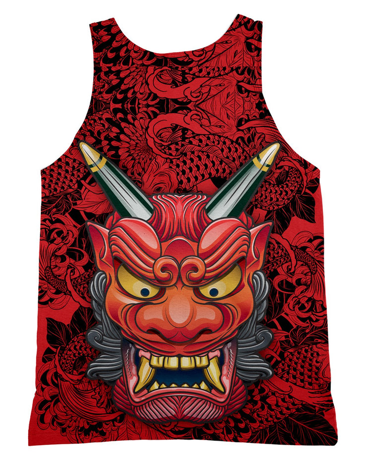 Oni Mask Red Tank-Top