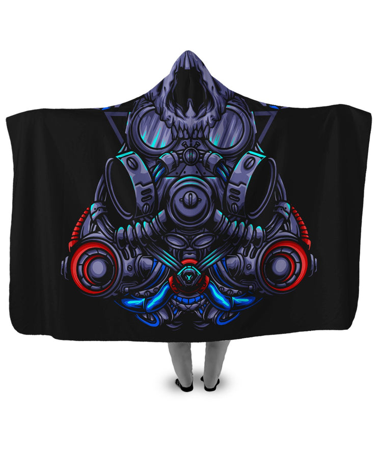 Cat Gas Mask Hooded Blanket