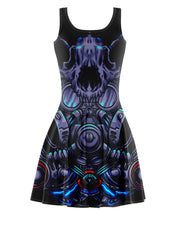 Cat Gas Mask Skater Dress