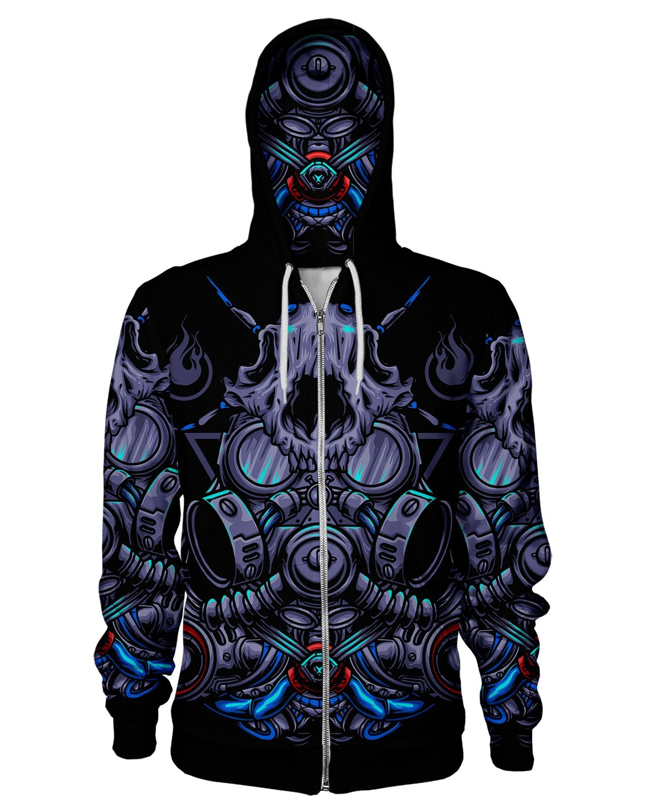 Cat Gas Mask Women's Zip Hoodie