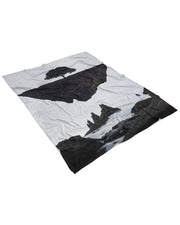 Floating Island Fluffy Micro Fleece Throw Blanket