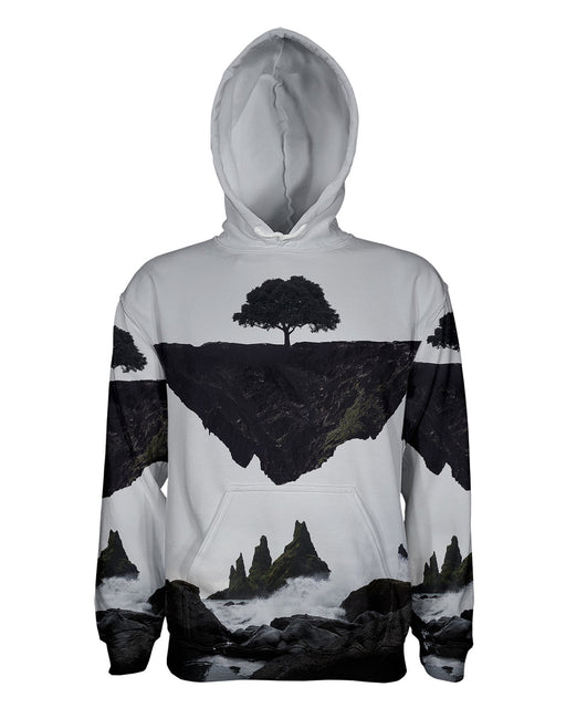 Floating Island printed all over in HD on premium fabric. Handmade in California.