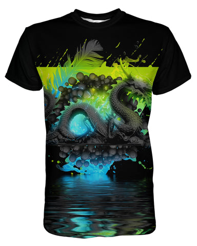 Dark Awe Dragon printed all over in HD on premium fabric. Handmade in California.