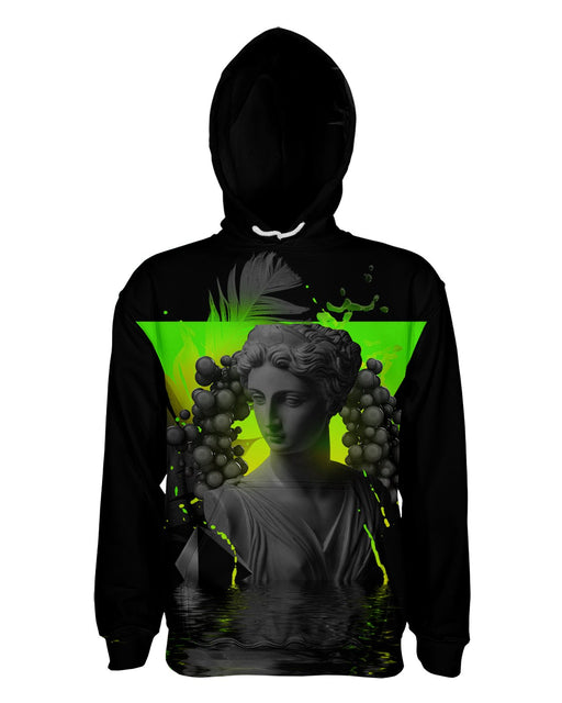 Dark Awe Vaporwave printed all over in HD on premium fabric. Handmade in California.