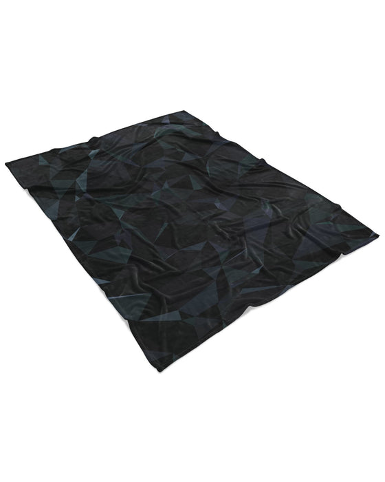 Black Prism Fluffy Blanket