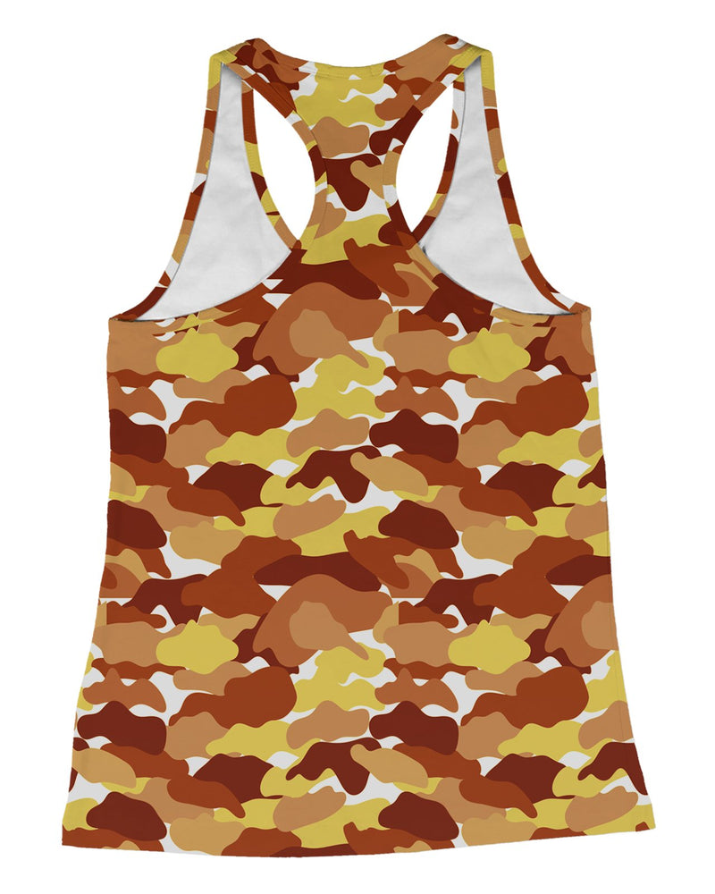 Color Camo Fall Feeling Racerback-Tank
