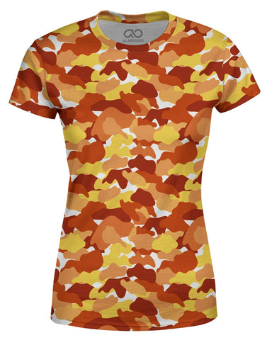 Color Camo Fall Feeling printed all over in HD on premium fabric. Handmade in California.