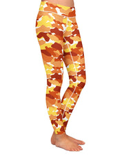 Color Camo Fall Feeling Yoga Leggings