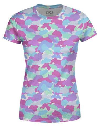 Color Camo Pastel Spirit printed all over in HD on premium fabric. Handmade in California.