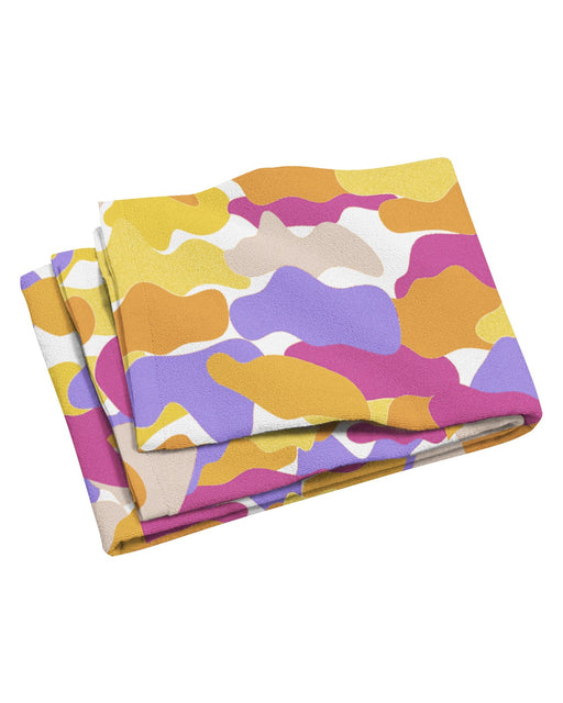 Color Camo Notebook Beach Towel