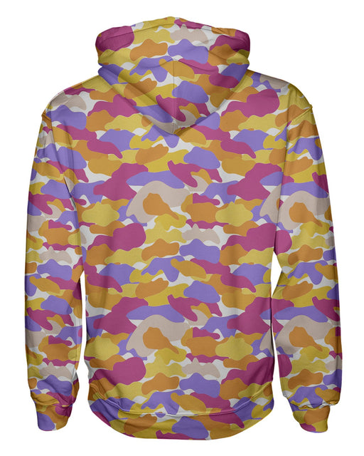 Color Camo Notebook Pullover Hoodie