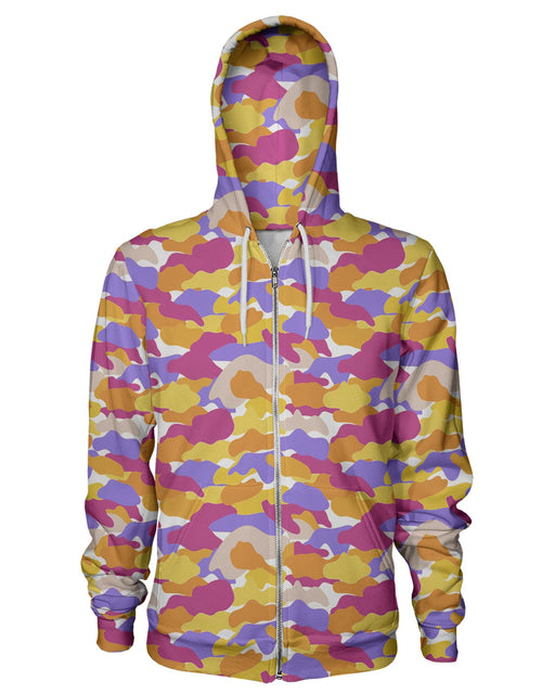 Color Camo Notebook Zip Hoodie