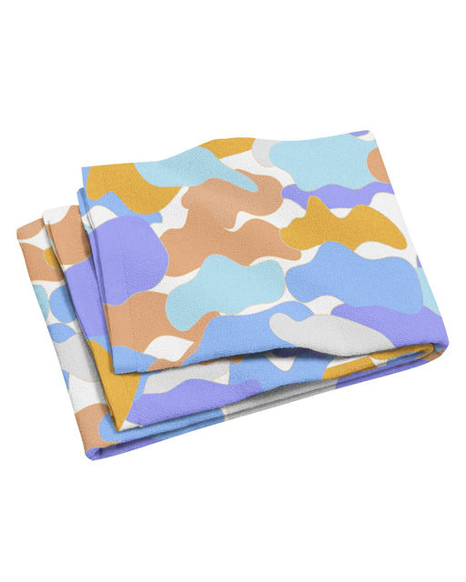 Color Camo Afternoon Journey Beach Towel