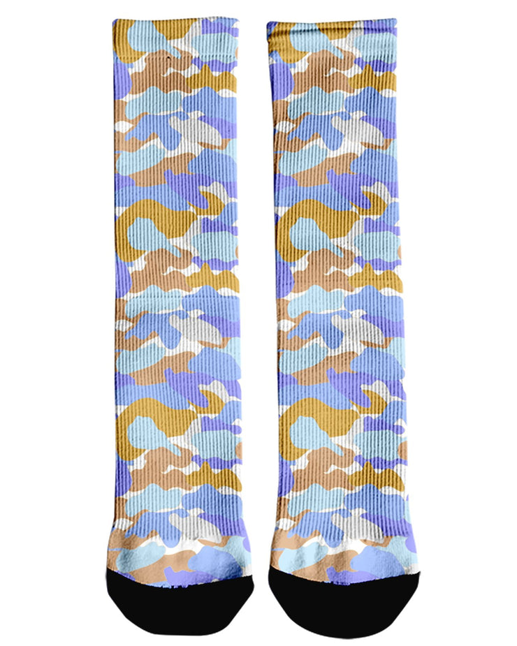 Color Camo Afternoon Journey Crew Socks
