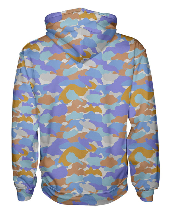 Color Camo Afternoon Journey Pullover Hoodie