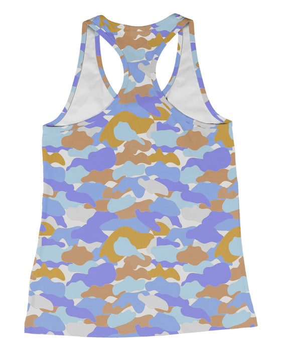 Color Camo Afternoon Journey Racerback-Tank