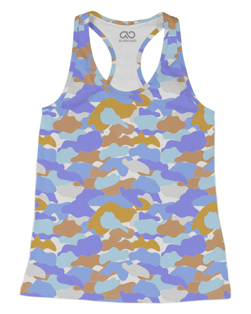 Color Camo Afternoon Journey printed all over in HD on premium fabric. Handmade in California.
