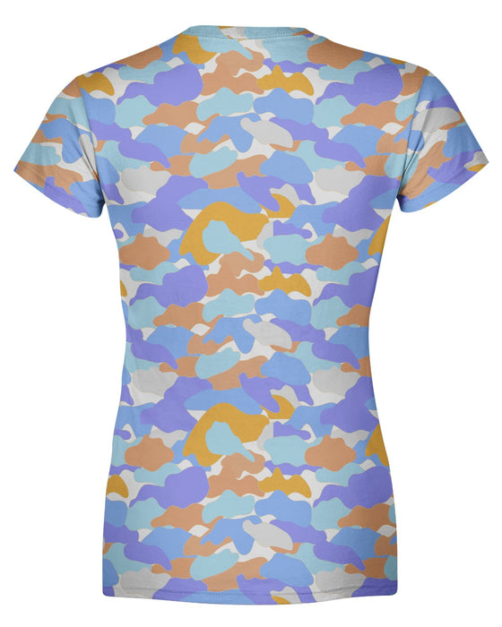 Color Camo Afternoon Journey Women's T-shirt