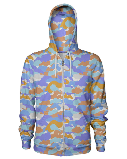 Color Camo Afternoon Journey Zip Hoodie