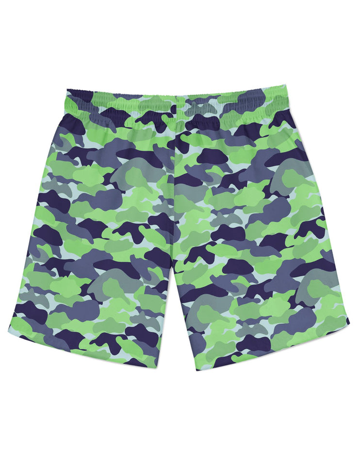 Color Camo Neon Field Athletic Shorts