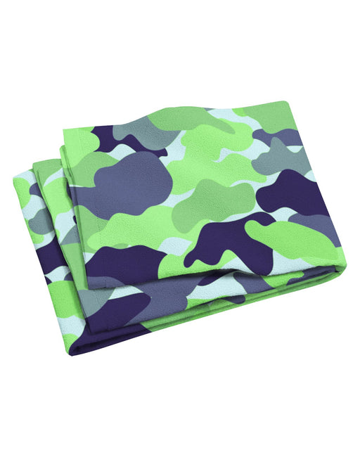 Color Camo Neon Field Beach Towel