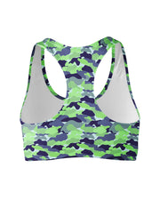 Color Camo Neon Field Sports Bra
