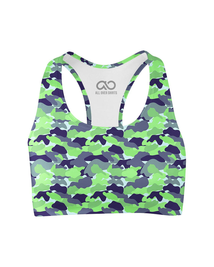 Color Camo Neon Field printed all over in HD on premium fabric. Handmade in California.