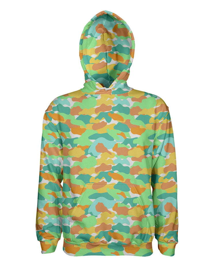 Color Camo Watermelon Women's Pullover Hoodie