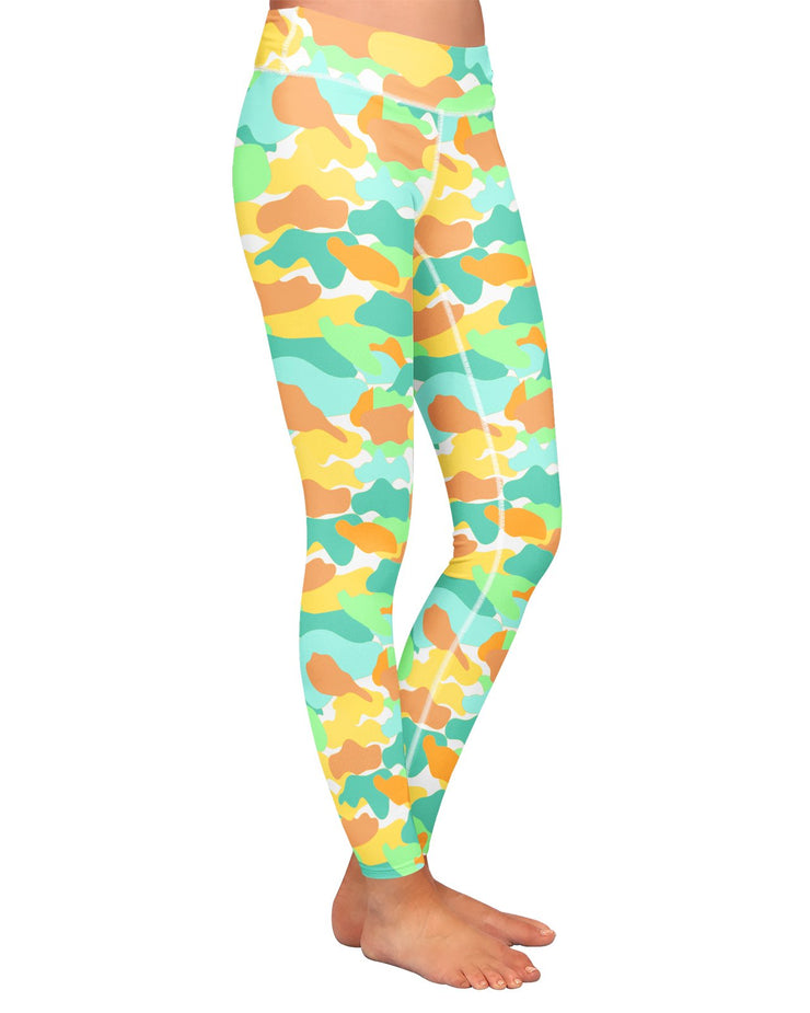 Color Camo Watermelon Yoga Leggings