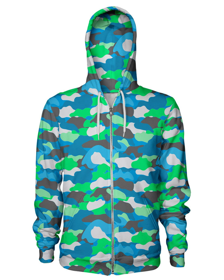 Color Camo 2007 Women's Zip Hoodie