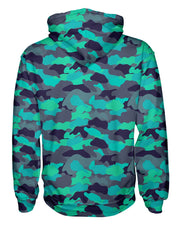 Color Camo Glo Up Women's Pullover Hoodie