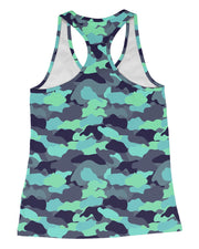 Color Camo Glo Up Racerback-Tank