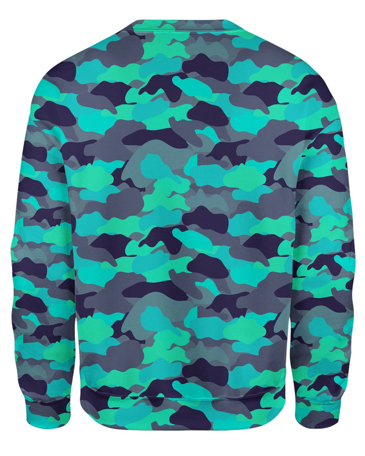 Color Camo Glo Up Sweatshirt