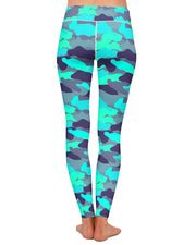 Color Camo Glo Up Yoga Leggings