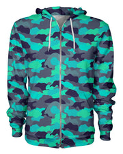 Color Camo Glo Up Women's Zip Hoodie