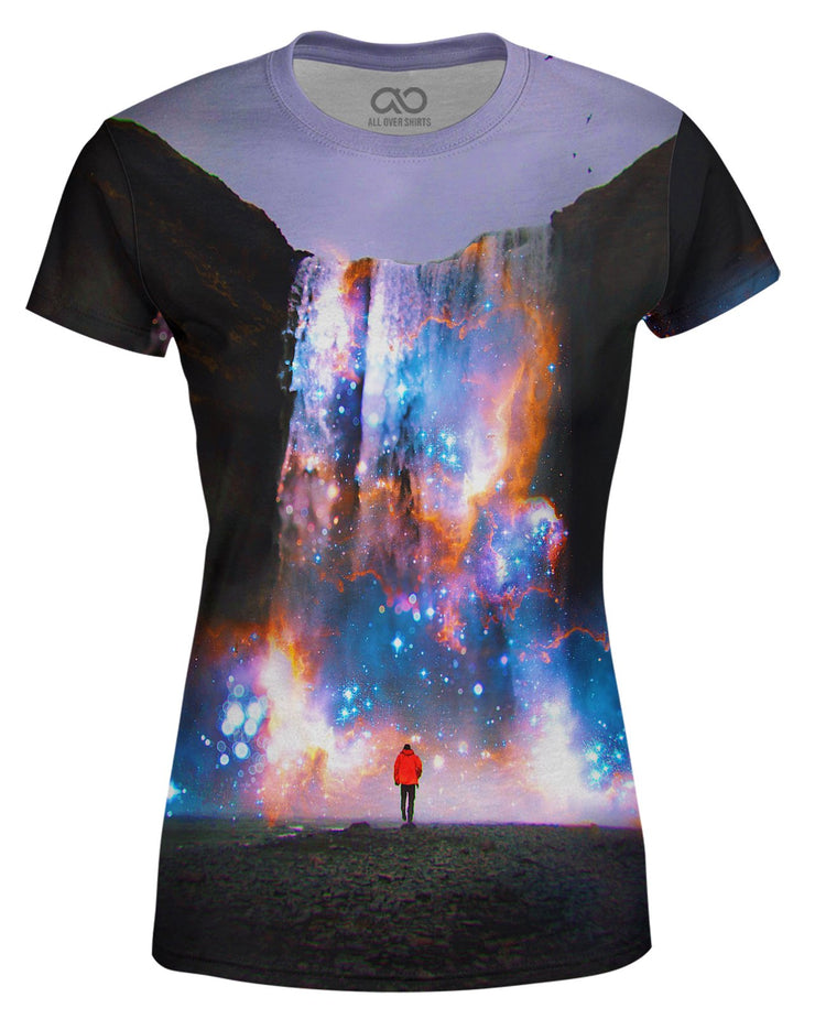Cosmic Waterfall printed all over in HD on premium fabric. Handmade in California.