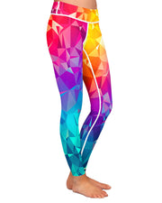 Rainbow Prism Yoga Leggings