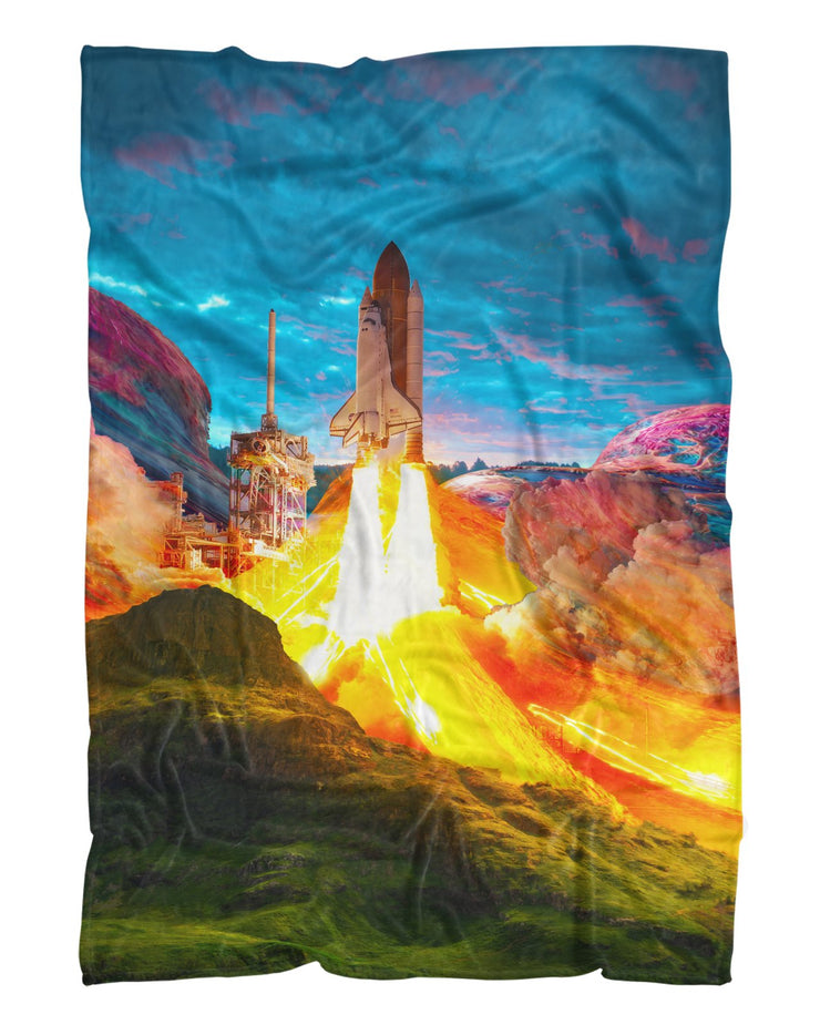 Takeoff printed all over in HD on premium fabric. Handmade in California.