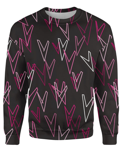 Geometric Hearts Sweatshirt