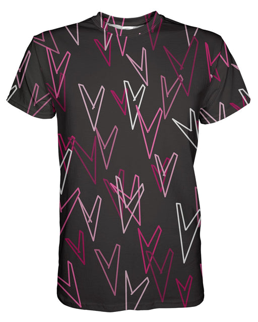 Geometric Hearts printed all over in HD on premium fabric. Handmade in California.
