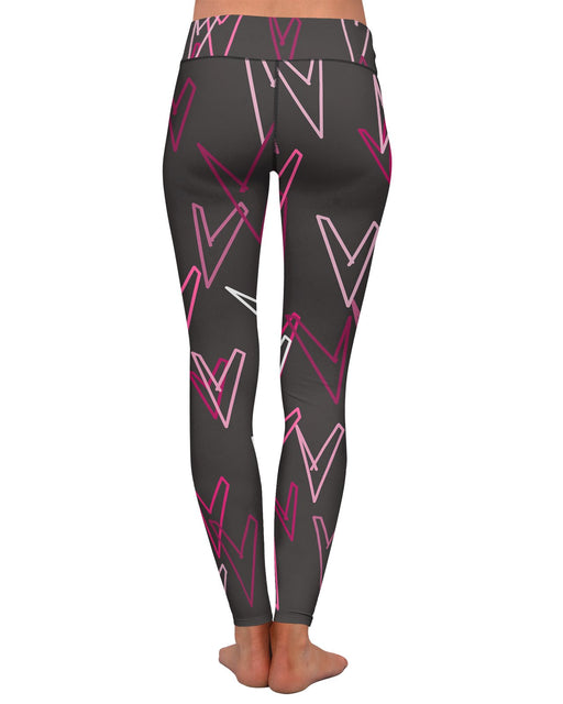 Geometric Hearts Yoga Leggings