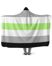 Agender Pride Flag Hooded Blanket